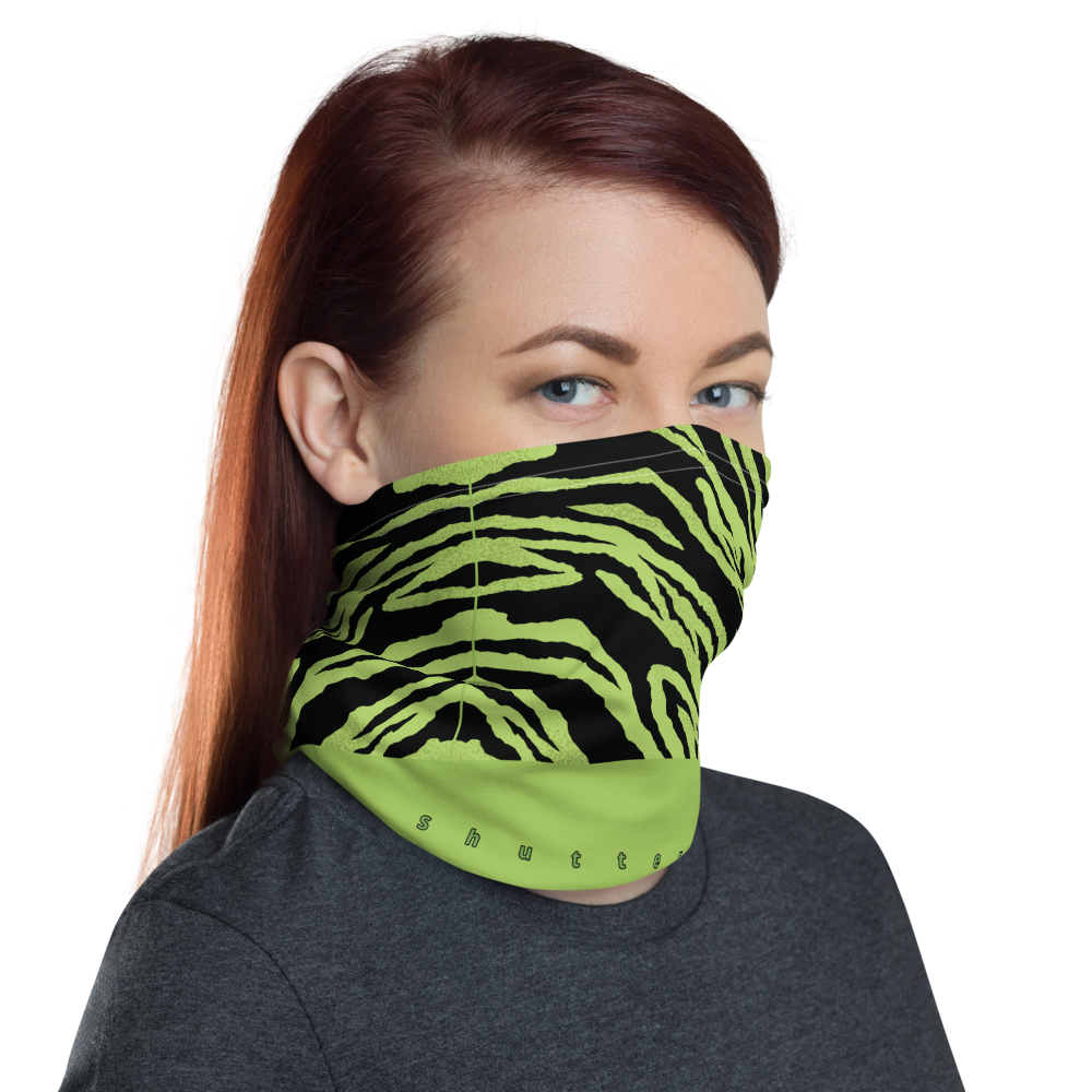 Green Zebra Shutterbug Neck Gaiter/Face Mask - Shutterbug Shop
