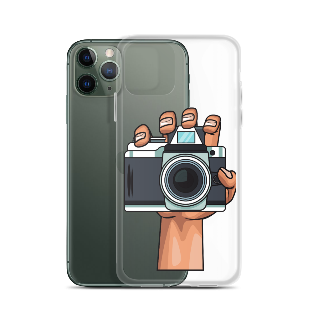 Camera In Hand iPhone Case 11, 11 Pro, 11 Pro Max (Transparent) - Shutterbug Shop