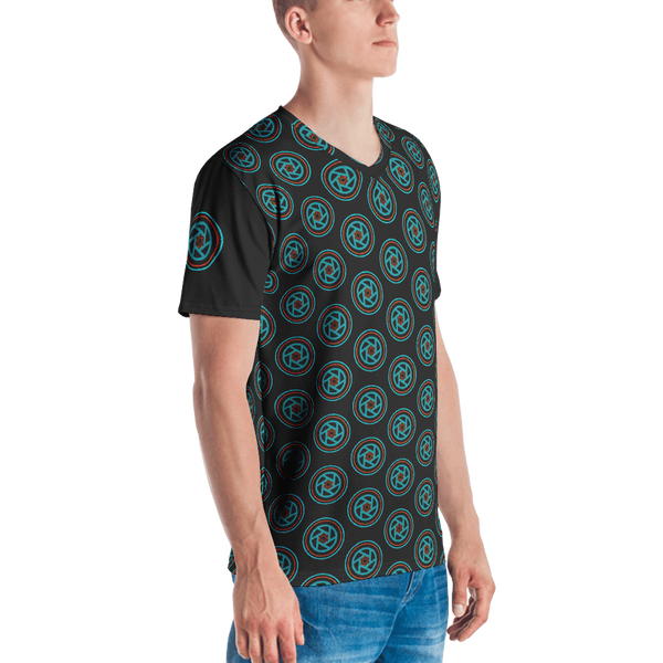 T-shirt Mens All-Over Print, Circles & Shutters Dark - Shutterbug Shop