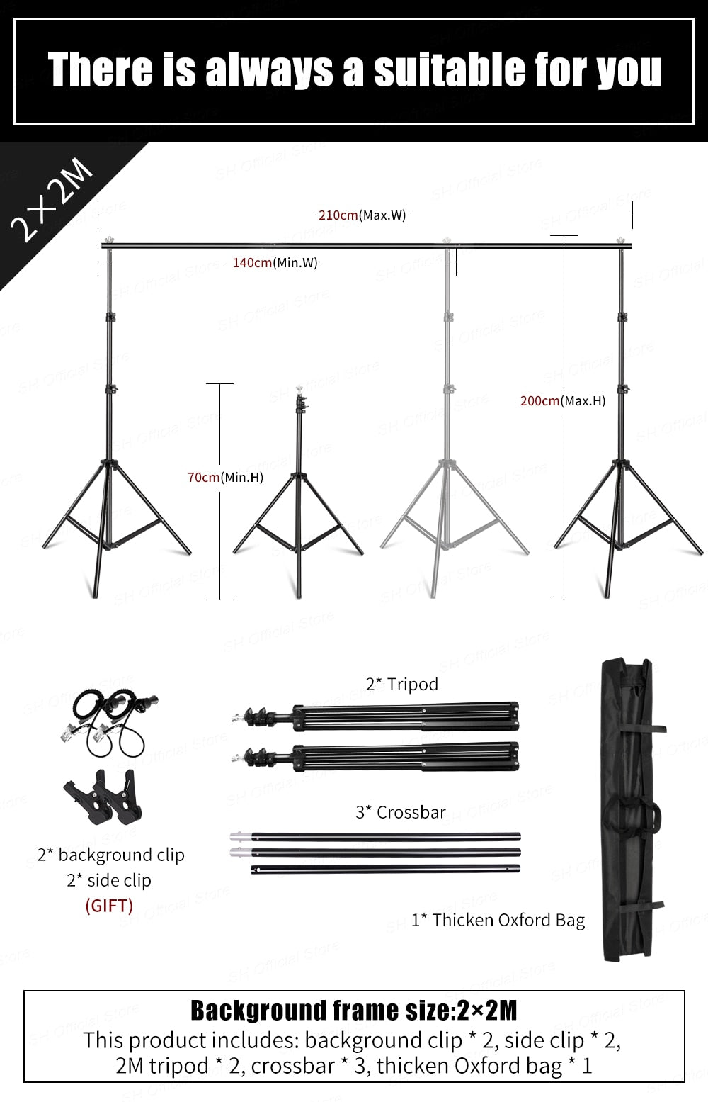 Background/Backdrop Stand Support Kit