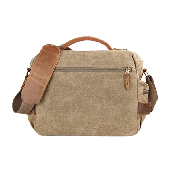 Camera Bag Waterproof Canvas Vintage Messenger - Shutterbug Shop