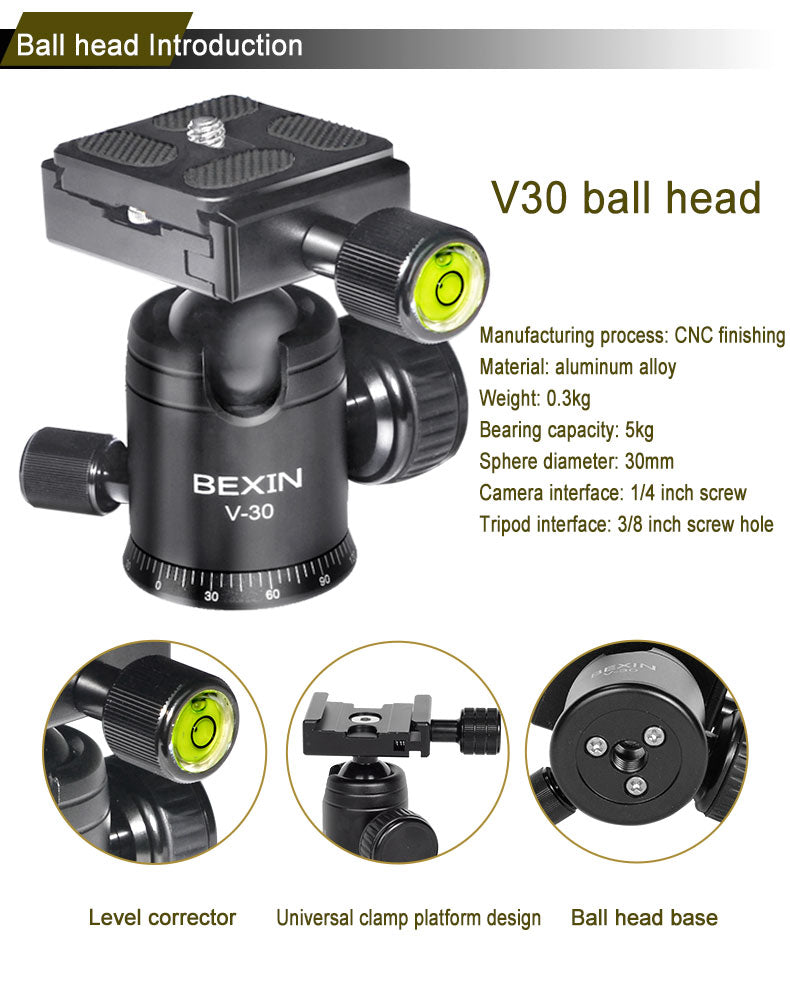 Camera Ball Head with 360 Degree Rotating Panoramic Head - Shutterbug Shop