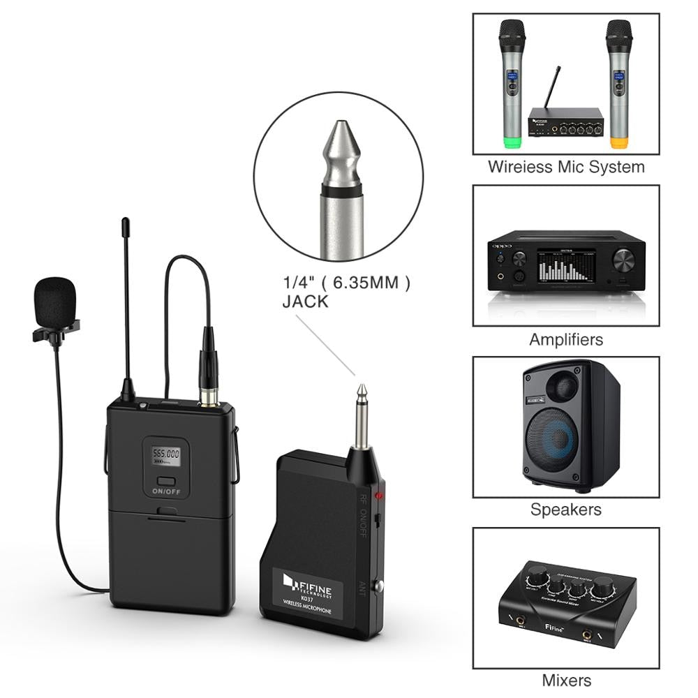 Wireless Lapel Mic Transmitter/Receiver (20 Channel UHF) - Shutterbug Shop