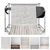 Backdrops-Brick Wall/Wooden Floor-Photography/Studio Backdrops
