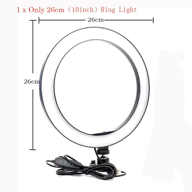 "The ""Essential Series"" 10""/26cm Ring Light with Tripod and Wireless Remote - Shutterbug Shop"
