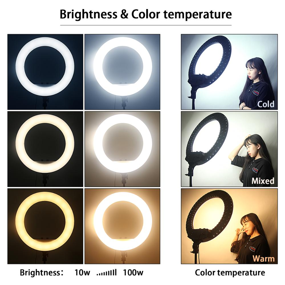 "The ""Bella Deluxe"" Premium 18""/45cm LED Ring Light"