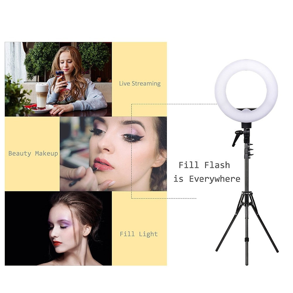 "The ""Bella Donna Supreme"" 14""/35.5cm Deluxe Studio Ring Light Set"
