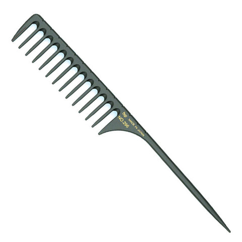 BW Carbon 296 Wide Tooth Tail Comb-Discontinued