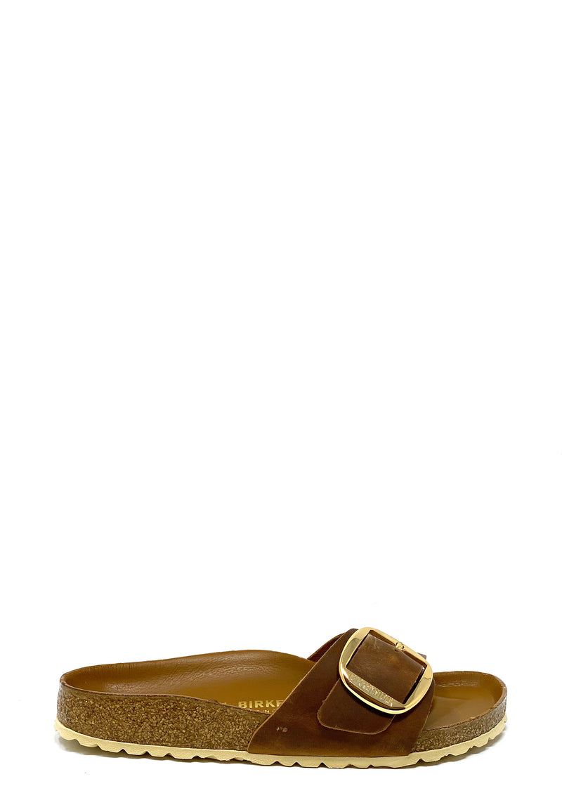 Madrid Big Buckle Pantolette | Cognac