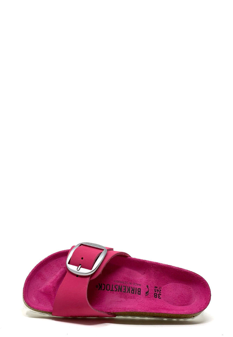 Madrid Big Buckle Pantolette | Fuchsia