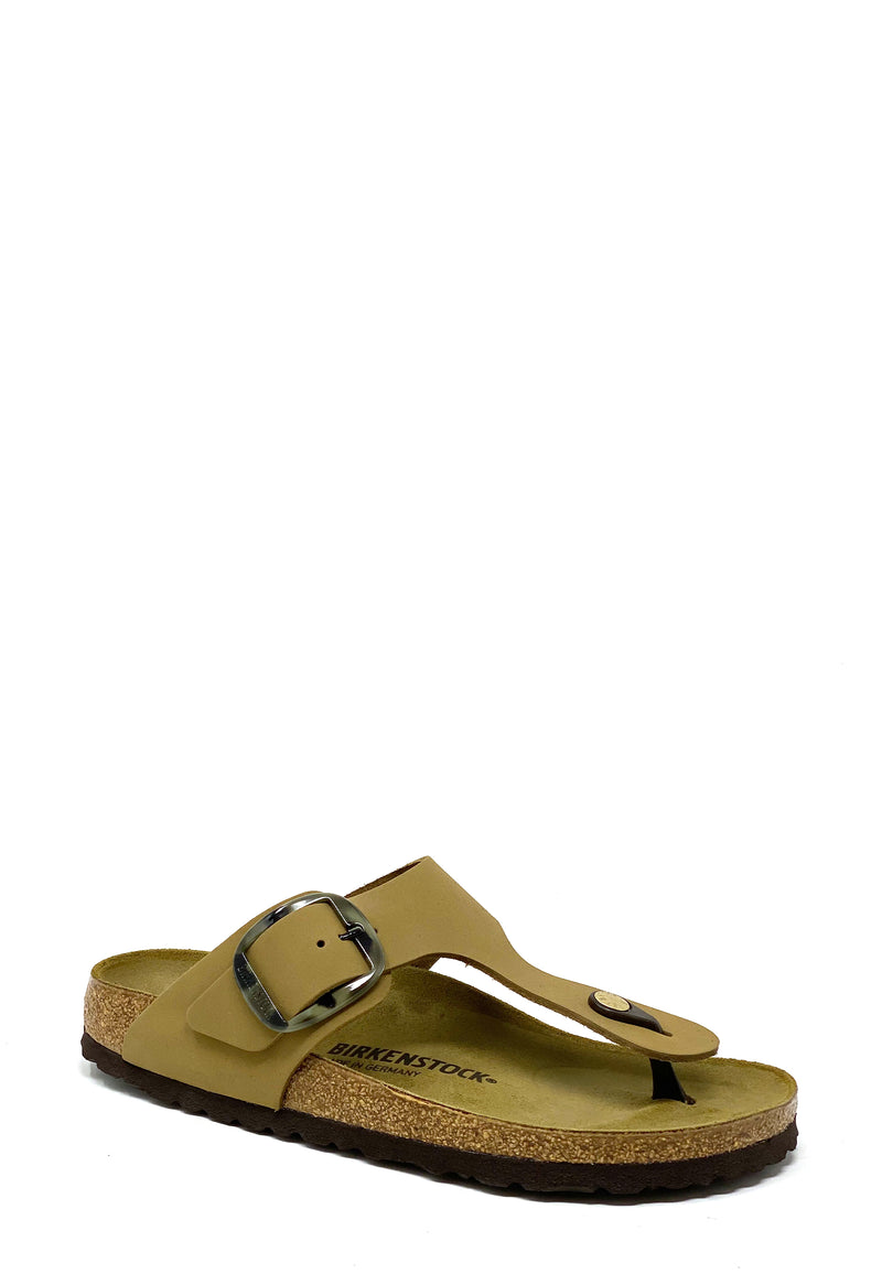 Gizeh Big Buckle Pantolette | Mud Green