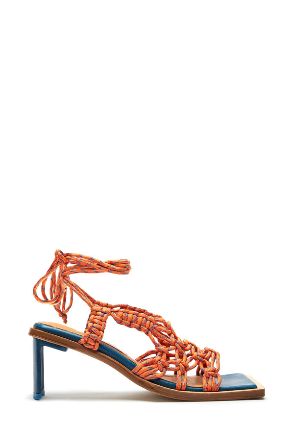 Annie Highheel Sandale | Orange