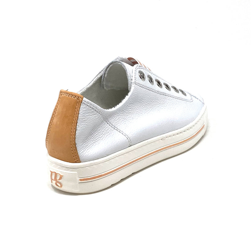 4797-128 Low Top Sneaker | White Peach