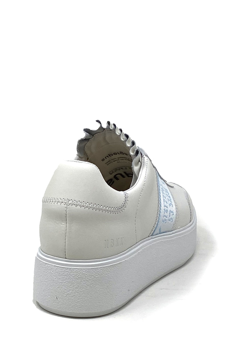 Elise GPS Low Top Sneaker | White Blue