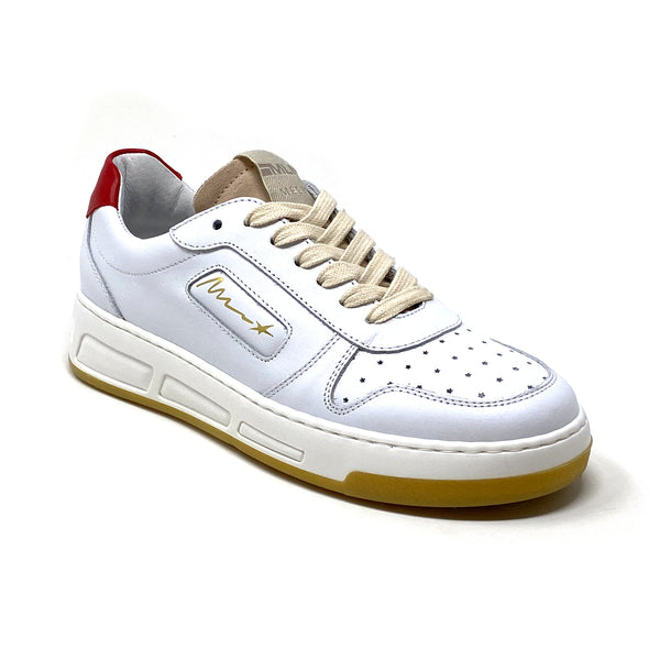 LE5031 Low Top Sneaker | White Red