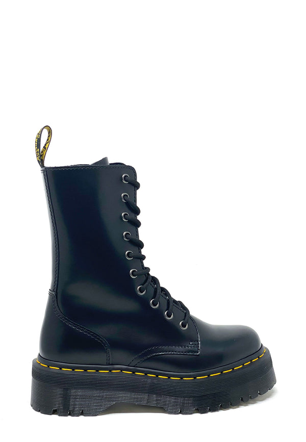 Jadon Hi Polished Smooth Schnür Boots | Black