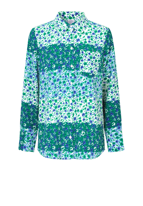 Mone Bluse | Green Mix
