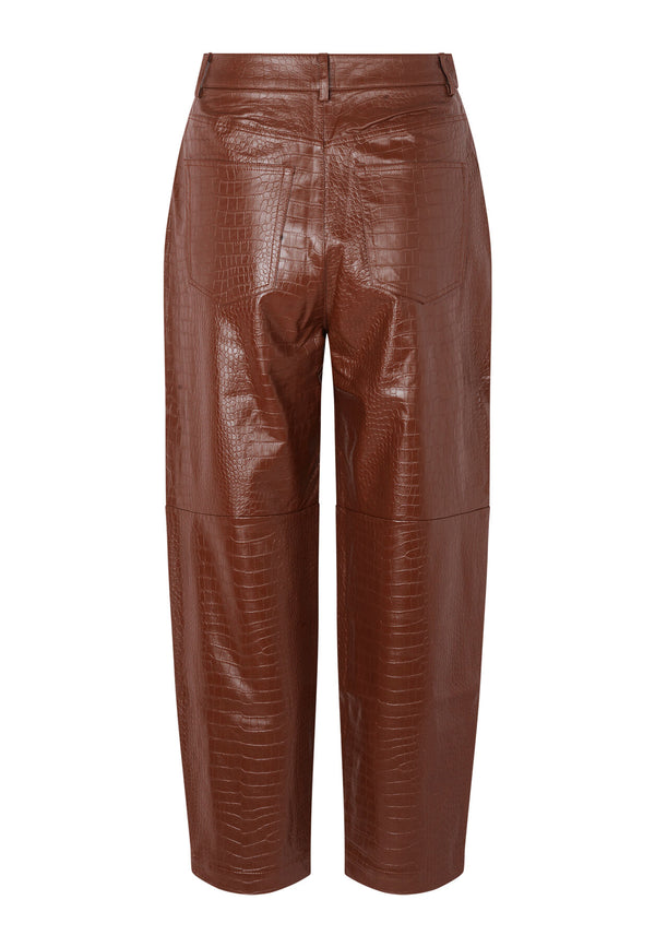Myla Lack Hose | Chocolate