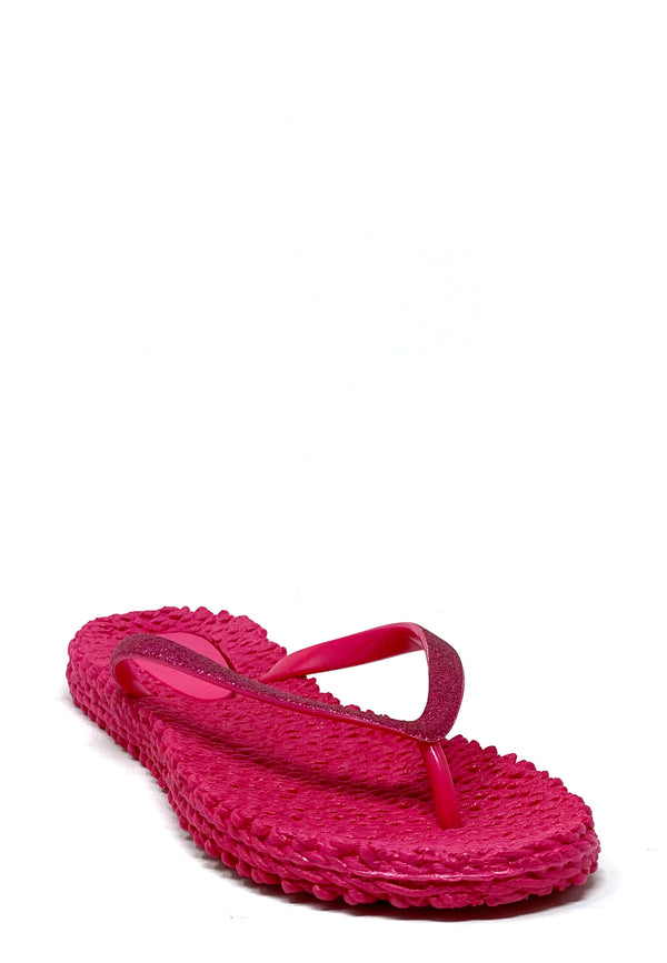 Cheerful Zehentrenner Sandale | Warm Pink