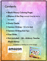 Mrs. Ashbury Teaches Black History Printable Activity Bundle