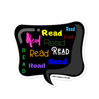 Read Read Read Bubble-free stickers