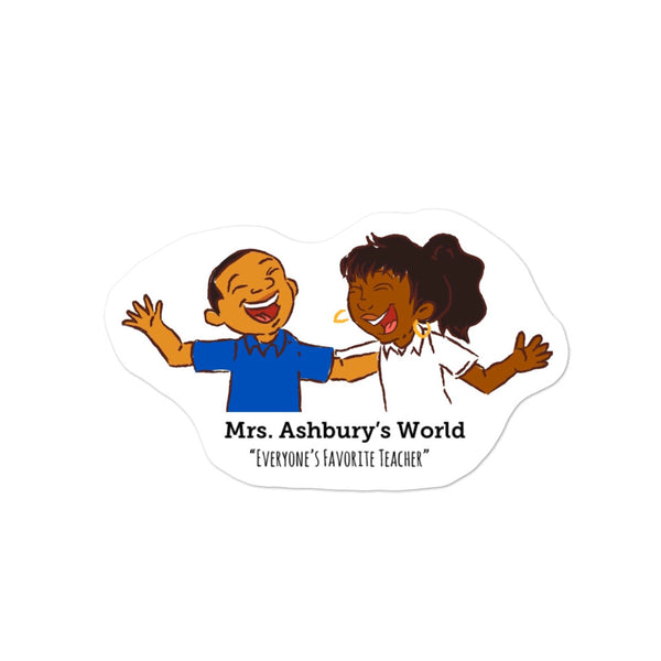 Mrs. Ashbury's Birthday (Ralphie and Rhonda) Bubble-free stickers