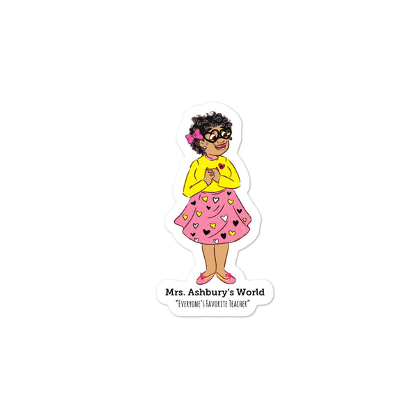 Mrs. Ashbury Happy Heart Bubble-free stickers