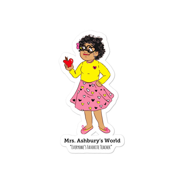 Mrs. Ashbury Apple Bubble-free stickers