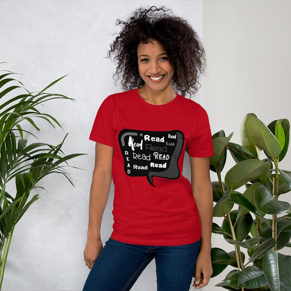 Mrs. Ashbury Read Black and White Short-Sleeve Unisex T-Shirt