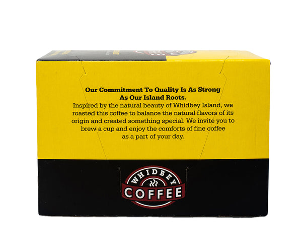 Single-Serve Coffee Pods: Whidbey Blend - back of box