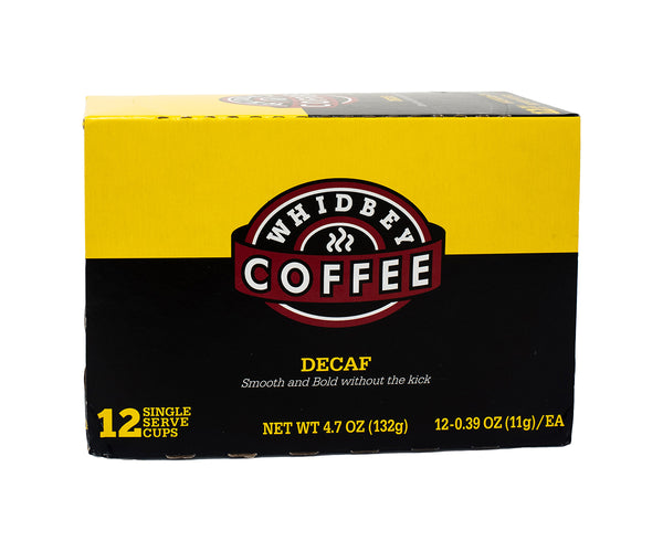 Whidbey Coffee Decaf Coffee Pods