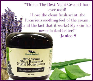 Organic Skin Renewal Anti Aging Night Cream