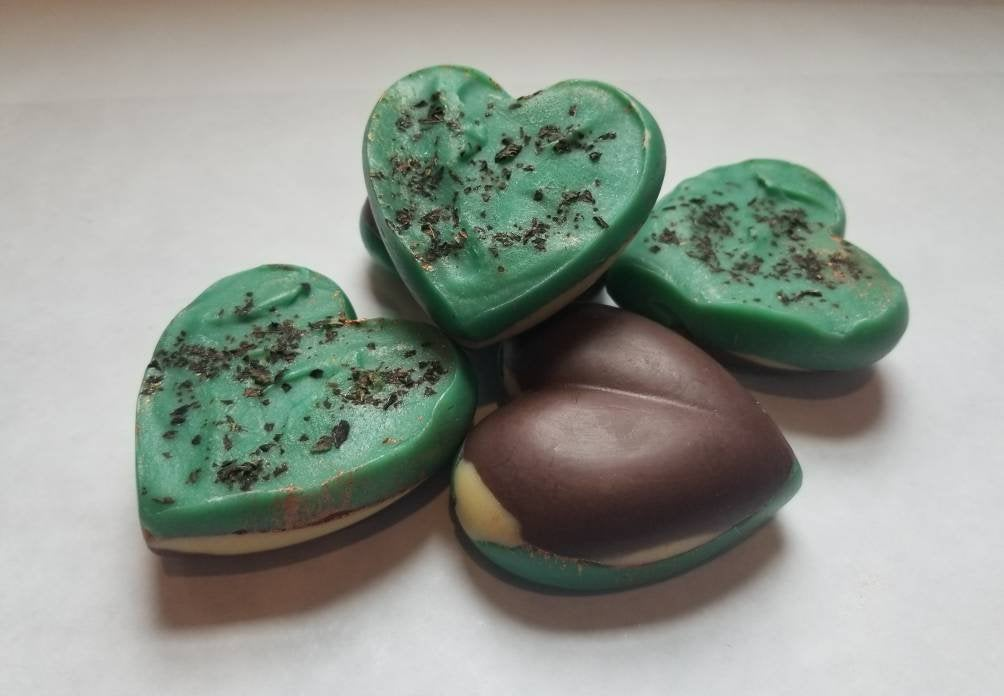 Peppermint Clove Heart Shape Handcrafted Soap 5 pk