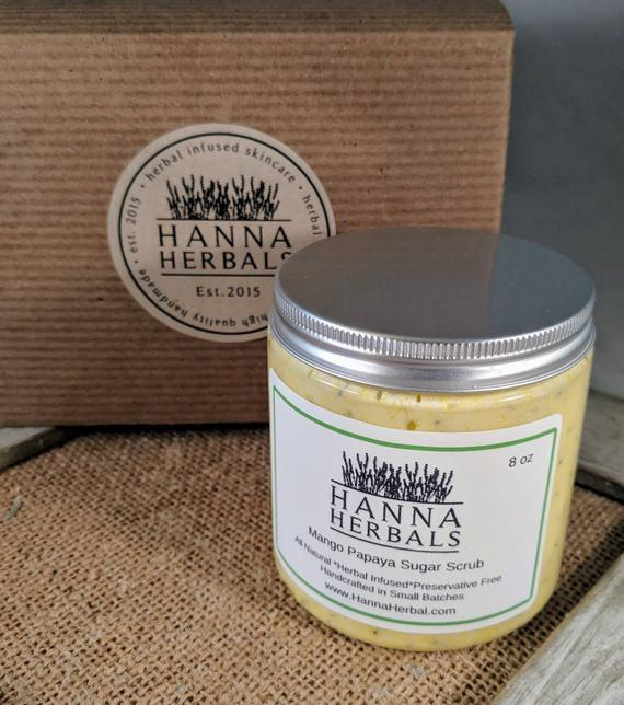 Mango Papaya sugar Scrub - Wands Of Nature