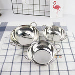 Indian Stainless Steel Bowl with Round Ears for curry
