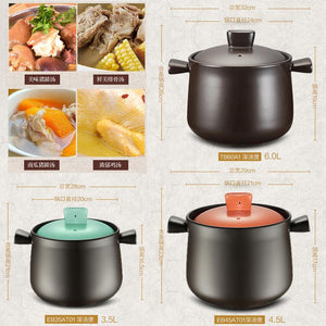 Supor casserole stew pot soup home open flame gas ceramic pot high temperature size capacity casserole stone pot