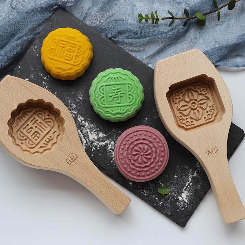 Handmade Traditional Moon cake mold for hand-pressed snow skin  or baked moon cake