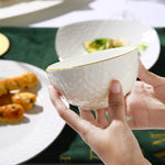 Bone China simple Chinese dish set with European design ceramic white (various sizes)