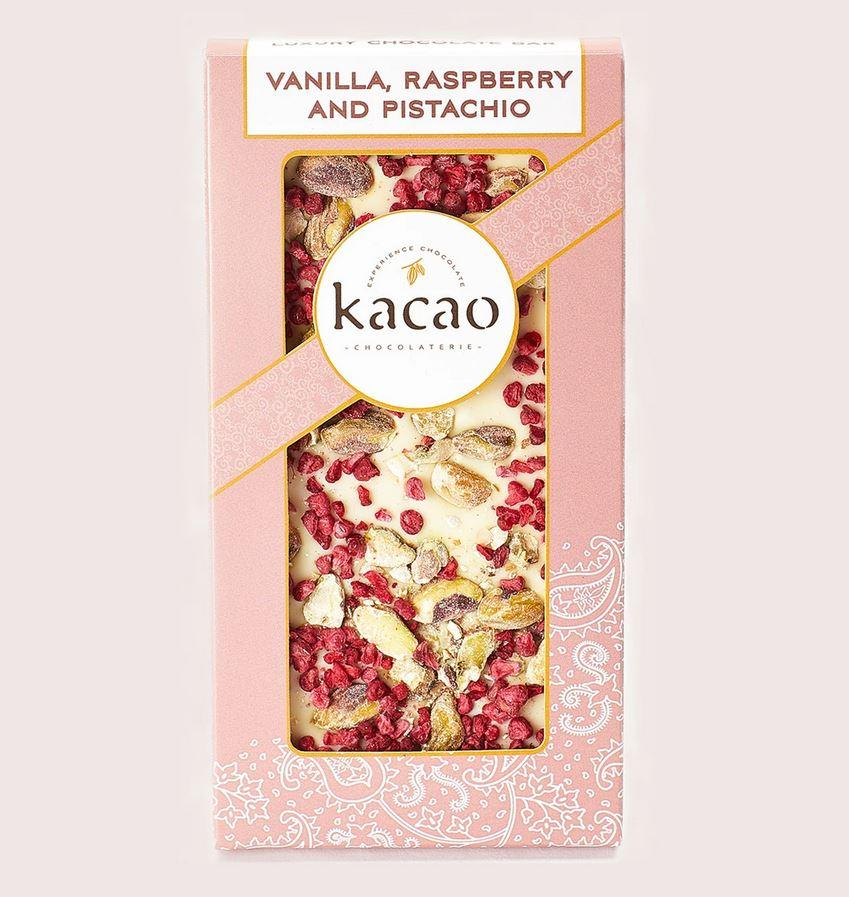 Vanilla, Raspberry & Pistachio Chocolate Bar