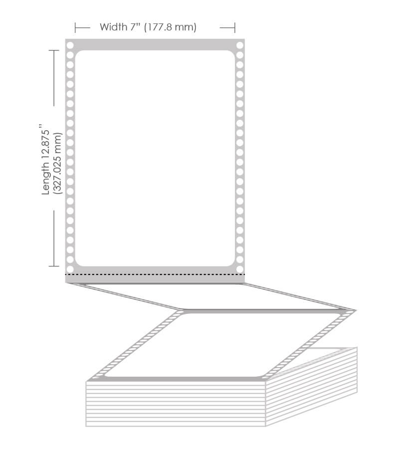 "7"" x 12.875"" Gloss Paper Label - 850 Labels"