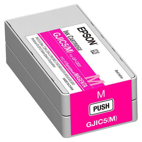 Epson GP-C831 ColorWorks Magenta Ink Cartridge, GJIC5(M)