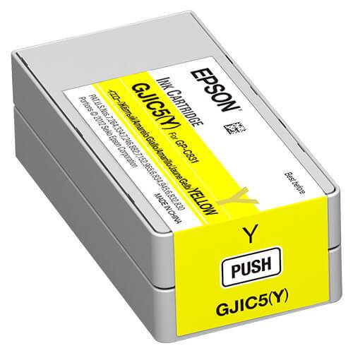 Epson GP-C831 ColorWorks Yellow Ink Cartridge, GJIC5(Y)
