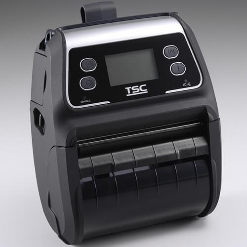 TSC Alpha-4L Mobile Thermal Printer, 203dpi, Linerless, LCD, Bluetooth