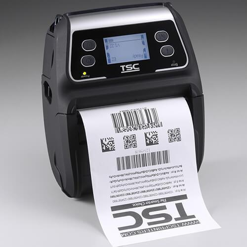 TSC Alpha-4L Mobile Thermal Printer, 203 dpi, Linerless, Bluetooth