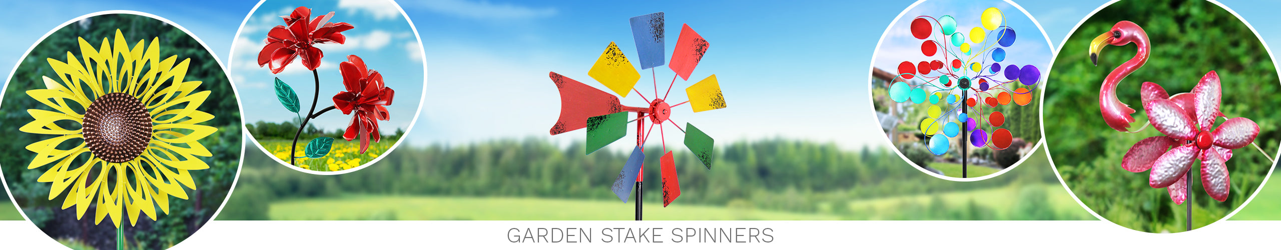 Garden Stake Spinners
