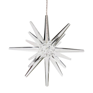 Solar Acrylic Hanging Star Garden Decor with White LED light, 8 by 28 inches