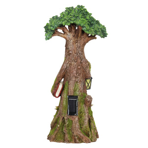 Exhart Solar Fairy Tree Carrying Book with Firefly LED Crackle Ball, 16 Inch