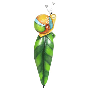 Snail Garden Plant Stake, 4.5 by 14 Inches