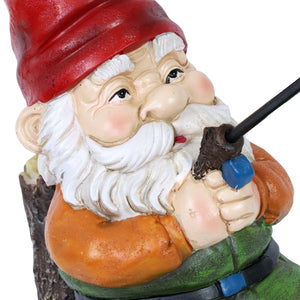 Good Time Fishing Frank Garden Gnome Statue, 13 Inch