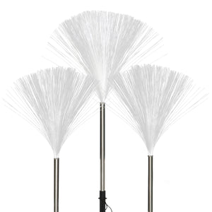 Solar Fiber Optic Light Garden Stake Set of Three, 3 by 21 Inches